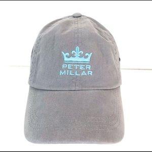 Peter Millar Gray and Blue Golf Baseball Hat OSFM